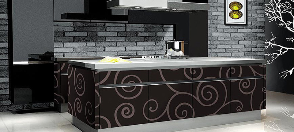 MDF and acrylics: Kitchen: Trendy