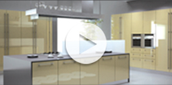 Interactive Flash Presentation of our board materials on a virtual kitchen
